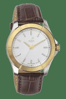 Mens Silver White Dial Watch NE9457BL01
