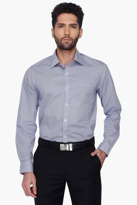 Arrow Ties Formal Shirts (Men's) - Mens Slim Fit Stripe Shirt