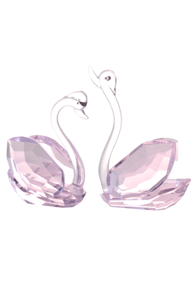 REAL EFFECT Pink Swans Figurine