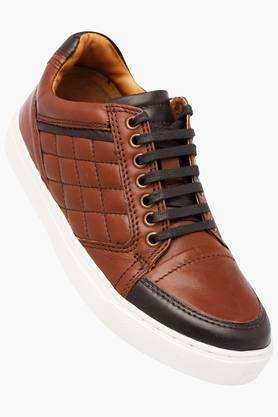 RUOSHMens Leather Lace Up Casual Shoes