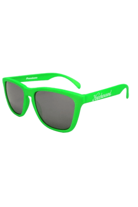 KNOCKAROUND Classic Premium Unisex Sunglasses Neon Green/Smoke-PRGL1016 (Use Code FB20 To Get 20% Off On Purchase Of Rs.1800)