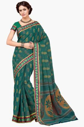 ASHIKA Womens Designer Cotton Printed Saree - 202338215