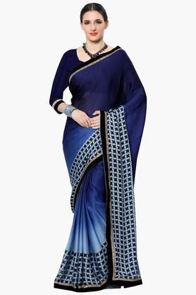 Women Satin Chiffon Printed Saree