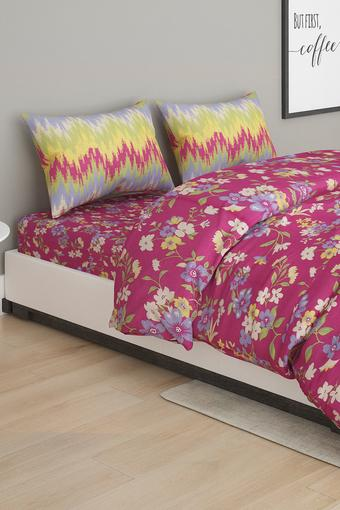 Floral Printed Double Bed In A Bag