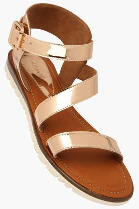 CATWALK Womens Party Wear Ankle Buckle Closure Flat Sandal