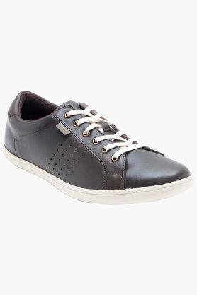 RED TAPE Mens Leather Lace Up Casual Sneakers