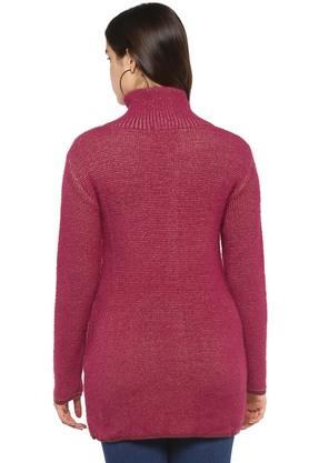 Womens Collared Knitted Cardigan