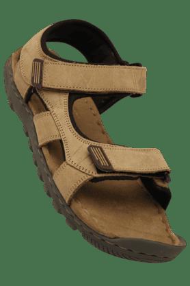 WOODLANDMens Nubuck Olifel Velcro Closure Sandal
