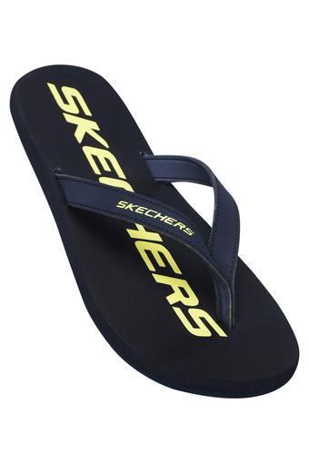 SKECHERS -  Navy Slippers & Flip Flops - Main