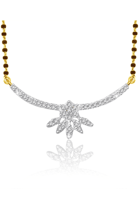 SPARKLES Gold Mangalsutra With Diamond Pendant Set - N9259