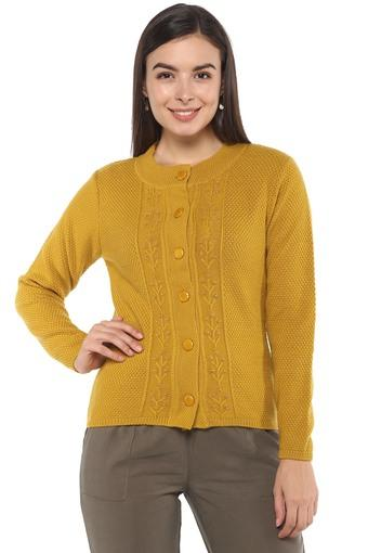 Womens Round Neck Knitted Cardigan