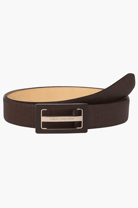 LOUIS PHILIPPE Mens Leather Casual Belt