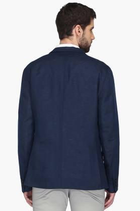 Mens Slim Fit Notched Lapel Solid Blazer