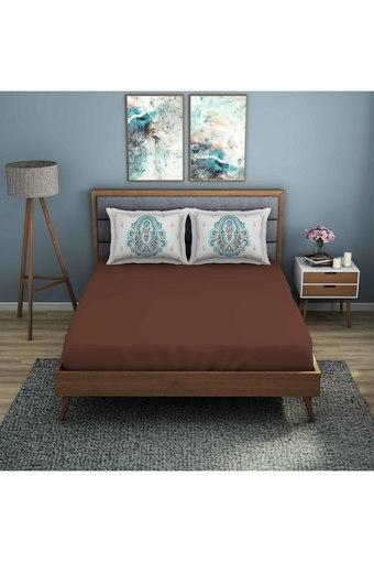 SPACES -  BrownDouble Bed Sheets - Main
