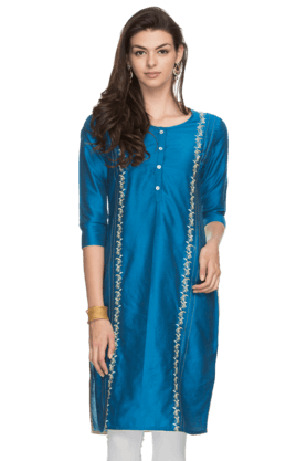 KASHISH Womens Round Neck Kurta
