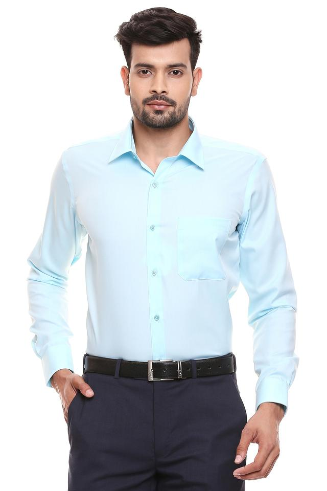 RAYMOND - Petrol Formal Shirts - Main