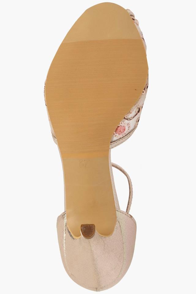 Womens Party Wear Buckle Closure Heel Sandals