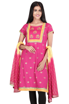 STOP Women Cotton Churidar Suit - 9862231