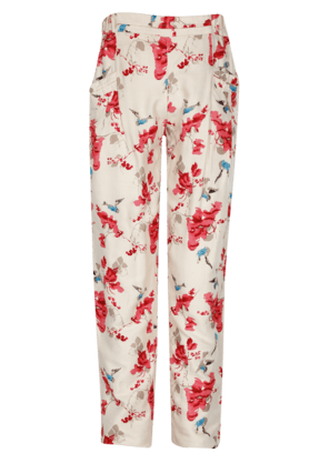 Girls Cotton Printed Pants