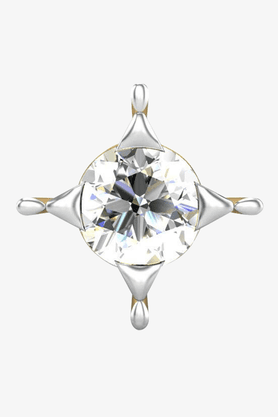 VELVETCASEWomens 18 Karat Yellow Gold Nose Ring (Free Diamond Pendant) - 201065040