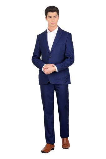 Mens Peaked Lapel Slub 2 Piece Suit