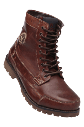 RED TAPE Mens Leather Lace Up Casual Boot - 200295434