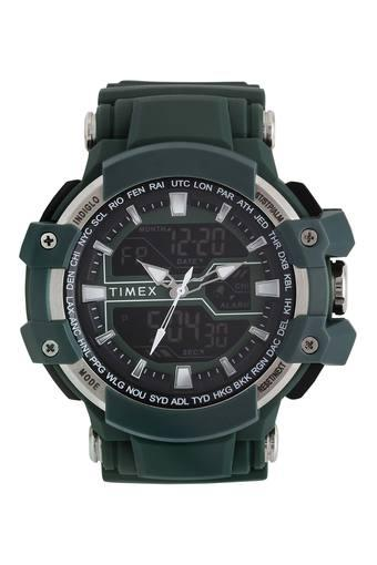 Mens Indiglo Green Dial Analogue-Digital Watch - WTI-TW5M22800