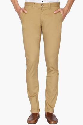 U.S. POLO ASSN. Mens Slim Fit Solid Chinos - 201922521