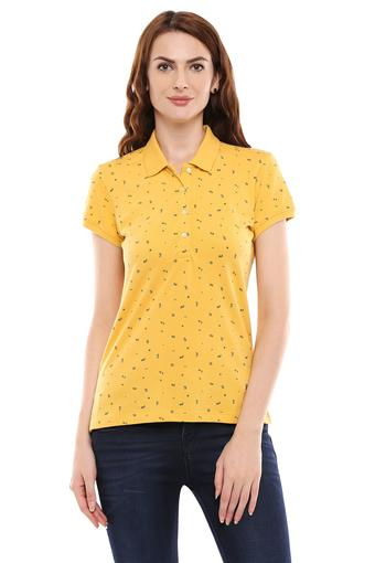 ALLEN SOLLY -  Yellow Tops & Tees - Main