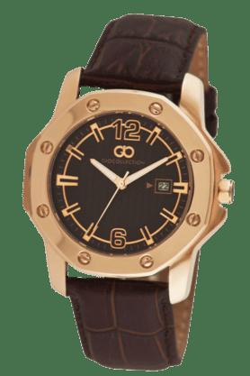 Dark Brown Dial Rose Gold Case Mens Watch - G1004-02