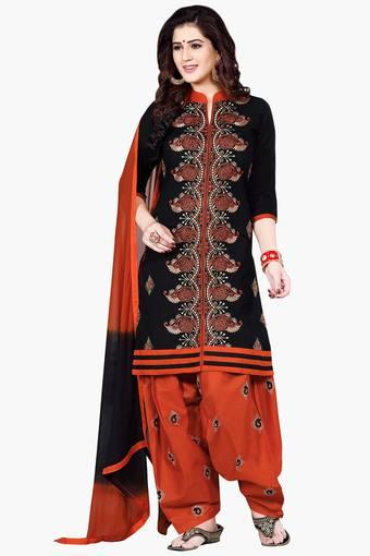 42065b8f0bf Buy ISHIN Women Embroidered Dress Material