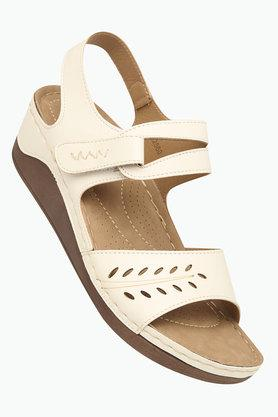 HAUTE CURRY Womens Casual Wear Velcro Closure Wedges