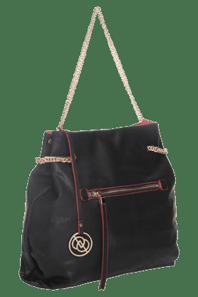 Womens Leather Zipper Closure Shoulder Bag