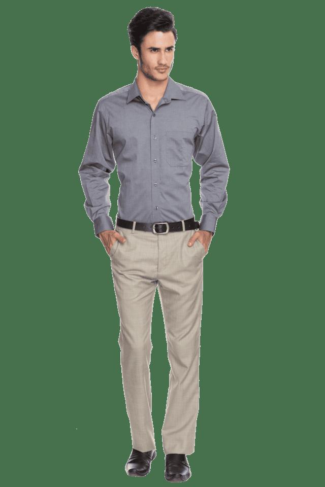 Mens Full Sleeves Slim Fit Formal Fil