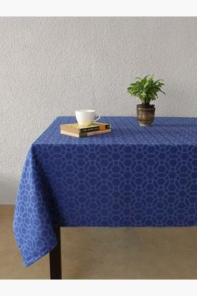 Jharokha Jaali 100% Cotton Table Cover - Blue