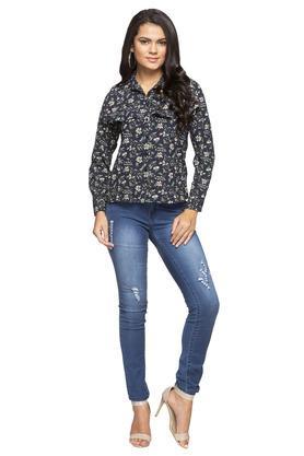 Womens Floral Print Casual Shirt