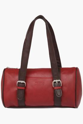 Womens Zipper Closure Synthetic Leather Tote Handbags - 201838074
