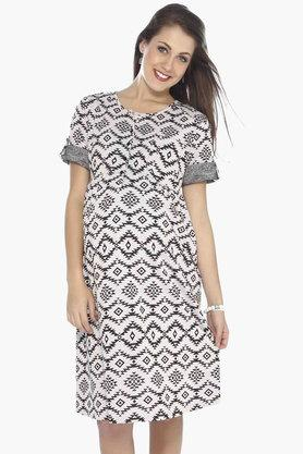 NINE MATERNITY Maternity Aztec Print Dress