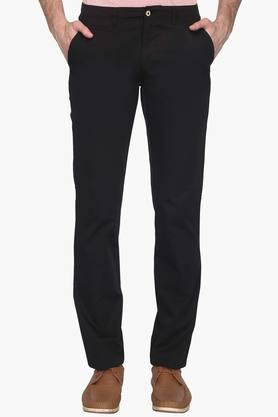Mens Tapered Fit 5 Pocket Solid Chinos