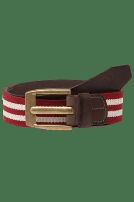 Mens Canvas Leather Belt