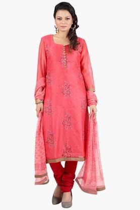 JASHNWomen Floral Embroidered Churidaar Kameez Dupatta - 201967102