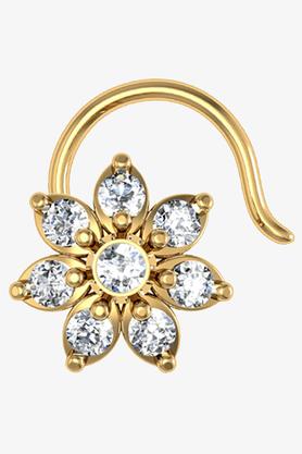 VELVETCASEWomens 18 Karat Yellow Gold Nose Ring (Free Diamond Pendant) - 201065093