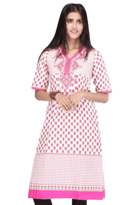 STOP Women Cotton Kurta - 9861723