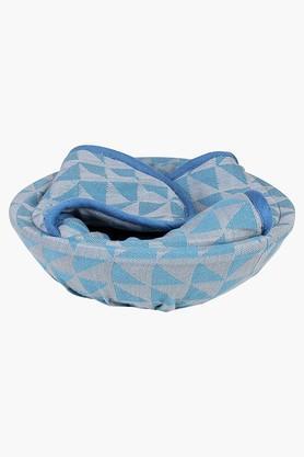HOUSE THISJharokha Jaali 100% Cotton Bread Basket - Blue