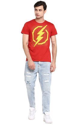 Mens Round Neck The Flash Print T-Shirt