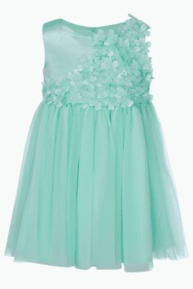 Girls Blended Solid Dress