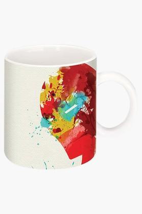 CRUDE AREAIron Man Printed Ceramic Coffee Mug
