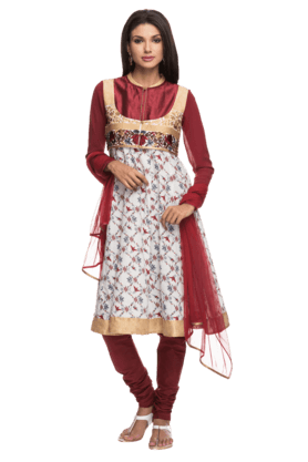 IMARA Women Embellished Churidar Suit - 200198551