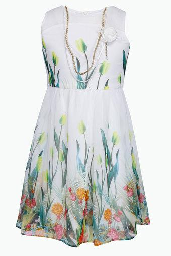 Girls Georgette Printed Dress