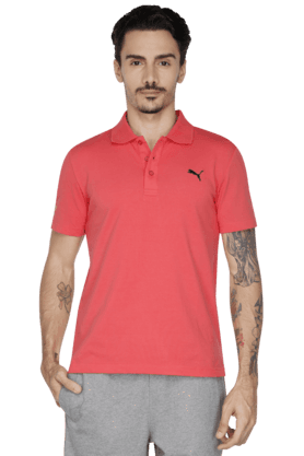 PUMA Mens Short Sleeve Solid Polo T-Shirt - 200835835